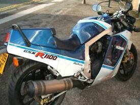 Suzuki GSX-R1100 H 1987 Slabside Only 15k Miles Excellent Original Condition