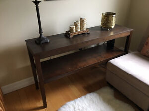 Solid wood Long table (for tv or display)