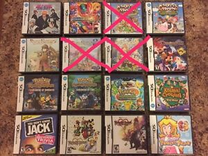 Nintendo DS games for sale Rare games