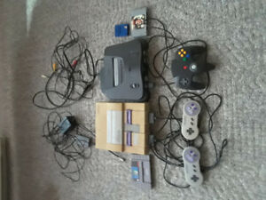 SUPER NES and NINTENDO 64 for sale $120 or $ 60 each
