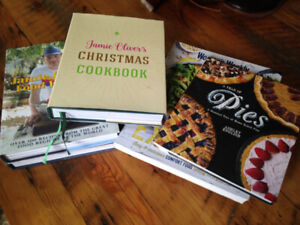 various cook books/  jamie oliver