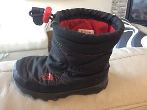 Boys boots - North Face winter boots-size 7; rain boots-size 8