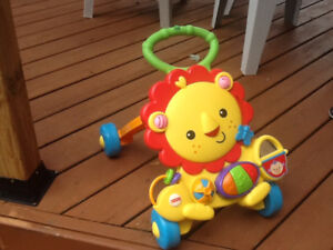 Musical lion activity walker