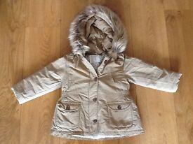 Zara girls winter coat 2 - 3 years