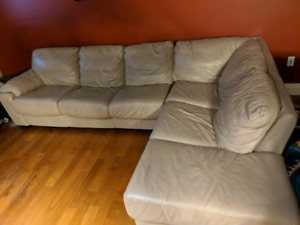 Mint condition Sectional leather couch