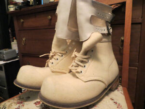 White felt ww2 military boots etc.