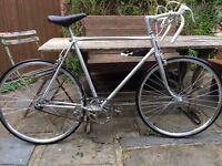 Single speed French racing bicycle - Brooks saddle, Campignola wheels