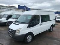 FORD TRANSIT 350 MWB HIGH ROOF DOUBLE CAB CREW VAN SIX SEATER FACTORY CONVERSION
