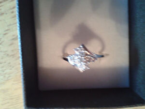 Cubic Zirconia  Sterling Silver Ring London Ontario image 4