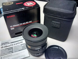 Sigma EX 10-20mm F/4-5.6 DC Lens for Canon