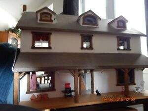 one of a kind hand crafted Wooden dollhouse