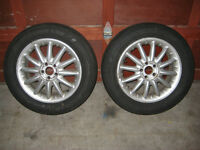 "SET OF TWO OF 16"" RIMS WITH 205 60 16 TIRES"
