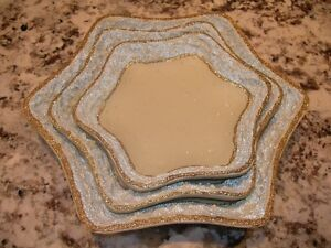 Cream Serving dishes with Gold Trim. In star shape. Brand new. Kitchener / Waterloo Kitchener Area image 4