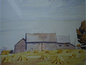 """Initialed A.J. Casson-""""Harvest Time"""" Artists Proof Kitchener / Waterloo Kitchener Area image 10"""
