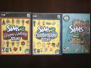 Sims 2 Happy Holiday Stuff, Celebration Stuff, and Bon Voyage Cambridge Kitchener Area image 1