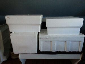 4 styro containers for fish Kitchener / Waterloo Kitchener Area image 1