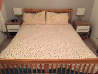 King size Pine Wooden Bed Frame- mattress included