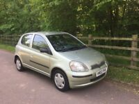 TOYOTA YARIS 2002 5DR MOT Till May 2019 Cheap to Insure Ideal First Car
