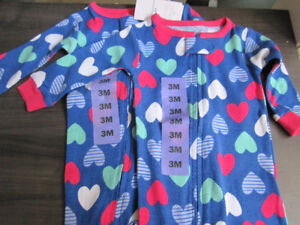 Sleepers, Carter's, Girls size 3 Month, BNWT