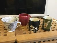 Various coffee mugs