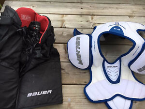 Bauer Hockey Pants and Shoulder Pads