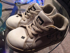 DC kids white shoes with leather uppers - size 10 Edmonton Edmonton Area image 3