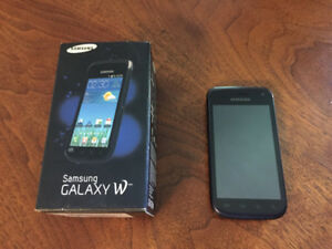 Samsung Galaxy W cell phone/ cellulaire