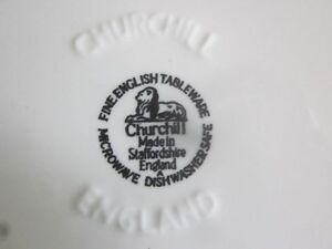 Vintage Churchill Made in Staffordshire England - Blue Willow Cambridge Kitchener Area image 7