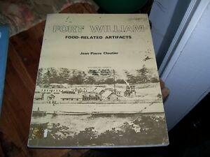 Book Fort William Food related Artifacts  Jean Pierre Cloutier