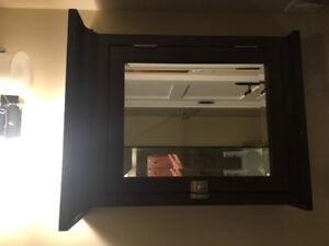 """Restoration Hardware Medicine Cabinet, Dark Wood 25.5""""x22.5""""x7.5"""