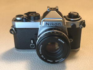 Great condition Nikon FE film camera with 50mm lens
