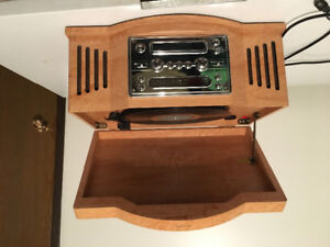 Antique radio,cd and record player