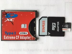 CF Compact Flash Memory Card Adapter for SD card