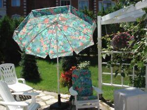 parasol et 4 coussins