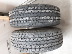 Two (2) Good Year Wrangler tires 265/70R16