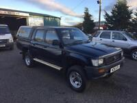 Toyota Hi-Lux 2.4D double cab 1996 N Reg 105163 miles only full Toyota history