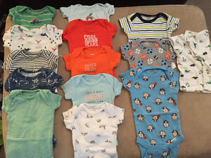 13 NB short sleeve onesies and one t shirt