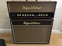 Hughes And Kettner 50 watt guitar amp head and cab with covers