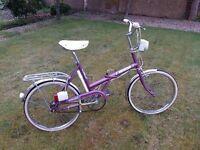 1977 raleigh e stowaway folding Bike