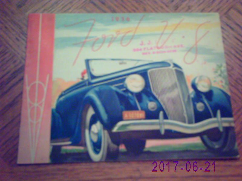 1936  FORD  V-8   SALES CATALOG-ORIGINAL