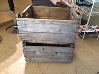 2 Vintage Decorative Wooden Bin Crate. $30 for both.   They are