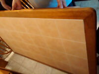 Dining room table with ceramic tile top (table only)