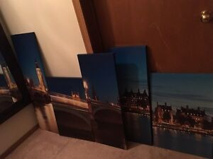 5 piece painting , new