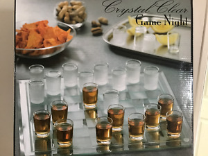 Crystal Clear shot glass game