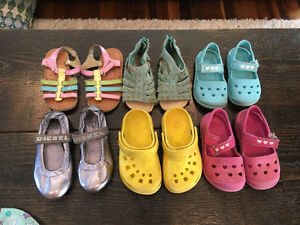 Girls Summer Sandals (sizes 6-8)