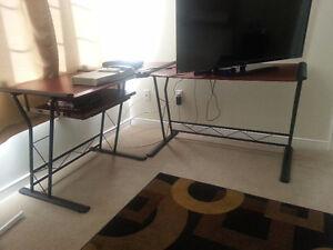 Mint condition L shape computer desk for sale
