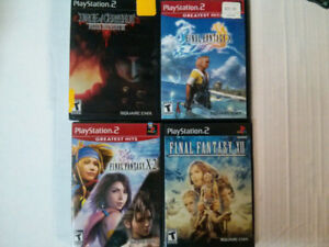 Sony PS2 Final Fantasy video game lot Dirge of Cerberus