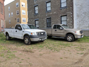 2 x FORD F150 V8 5.4L 8' Box's (NEW STUDDED TIRES & TONNEAU)