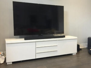 BURS TV BENCH IKEA WHITE in NEW CONDITION