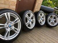 """Genuine BMW 3 Series 18"""" 400 M Sport Alloy Wheels & Tyres F30 F31 F32 F33 E46 E90 E92 Z4"""